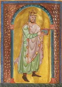 Kaiser Heinrich II. als Stifter, Seeon, vor 1012 | SBB, Msc.Bibl.95, Bl. 7v-8r
